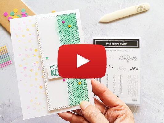 Video: Pattern Play Konfetti Karte