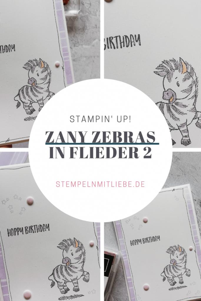 Zany Zebras in Flieder 2