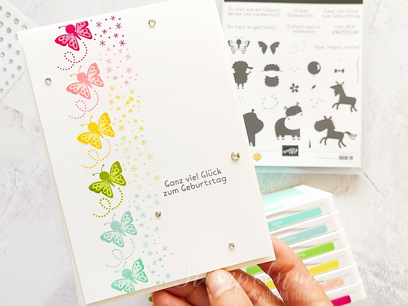 Schmetterlinge in Regenbogenfarben