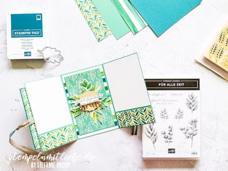 Tri Fold Karte Ewiges Grün