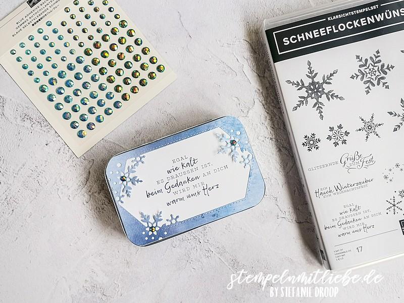 Blechdose mit Schneeflockentraum - Schneeflockenwünsche -  Snowflake Splendor Suite -