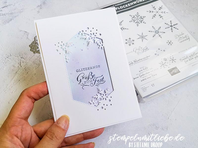 Glitzernde Grüße zum Fest - Stempelset Schneeflockentraum - Snowflake Wishes