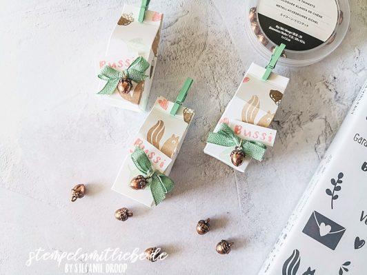 Herbstlicher Mini-Milchkarton
