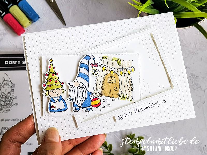Kleiner Weihnachtsgruß - Stempelset Wichtelweihnacht - Gnome for the holidays