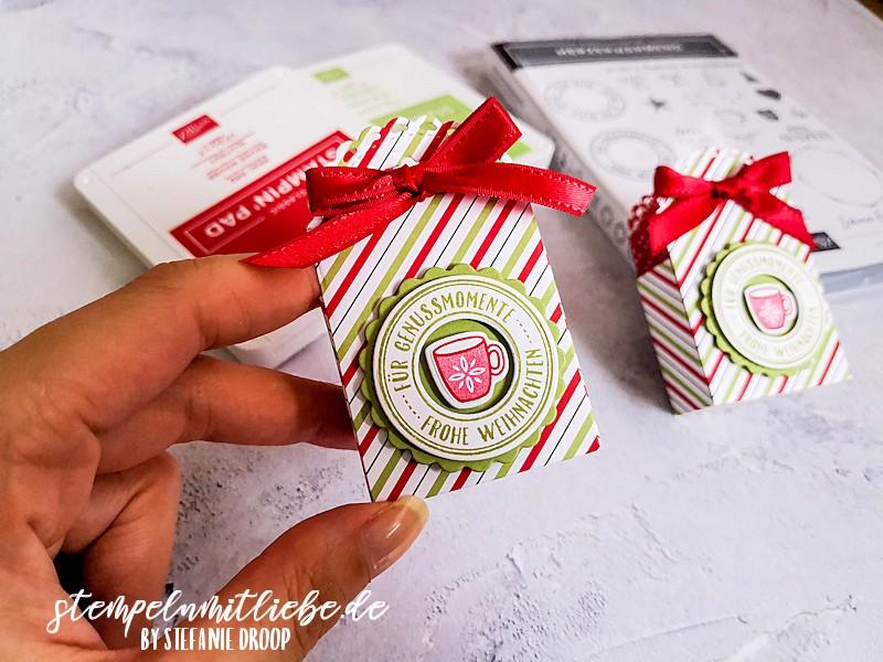 Mini-Geschenkschachtel Verpackung - Warm Hugs - Stempelset Herzerwärmend