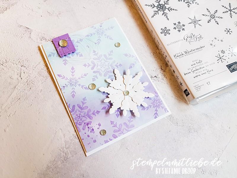 Schneeflocken in Heideblüte - Schneeflockenwünsche - Snowflake Wishes