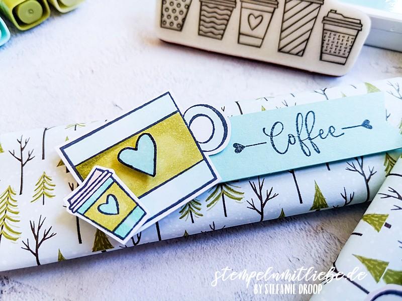 Verpackung für Kaffee mit Press On