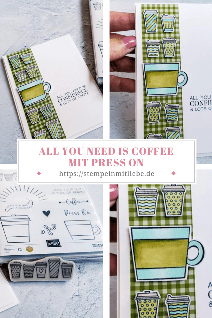 All you need is coffee mit Press On