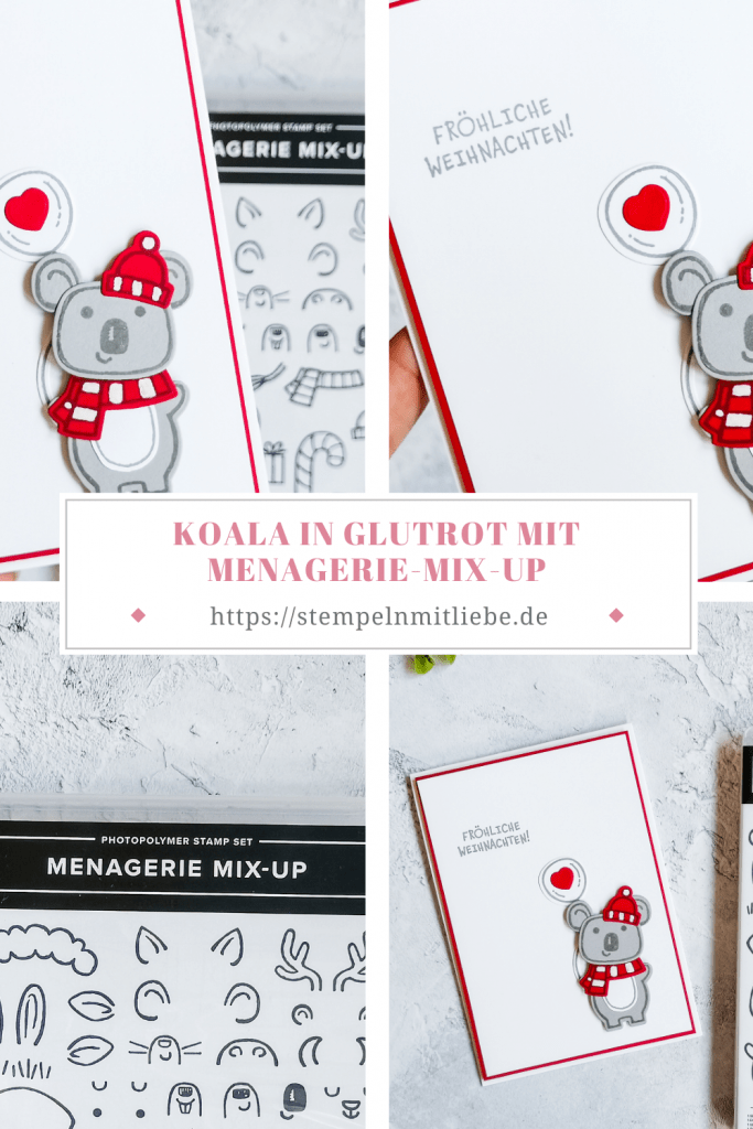 Koala in Glutrot mit Menagerie Mix-Up