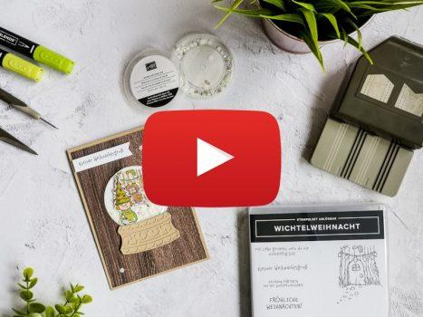 Video Hop: Schüttelfensterkarte mit Wichtelweihnacht