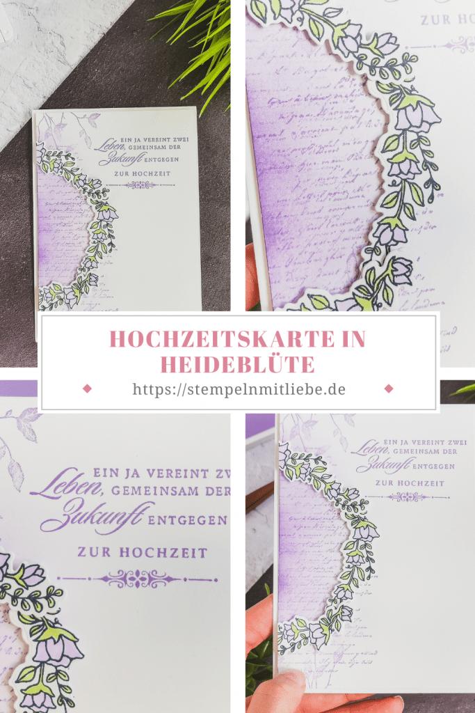 Hochzeitskarte in Heideblüte - Very Versailles - Ein Leben Lang - Einfach so einladend - Stampin' Up