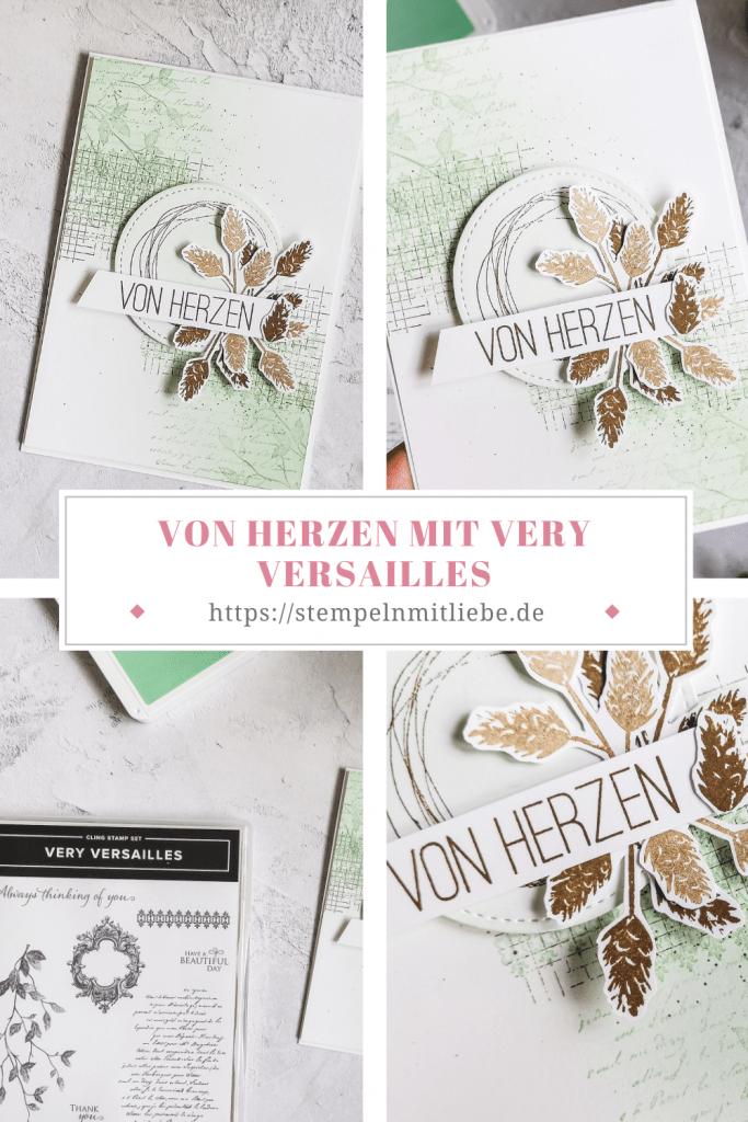 Von Herzen mit Very Versailles in Minzmakrone - Stempelset Trost und Kraft - Stampin' Up! - Minzmakrone