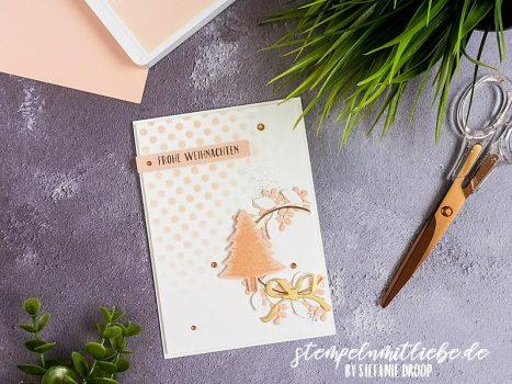 Weihnachtskarte in Blütenrosa