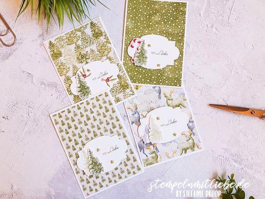 Schnelle Weihnachtskarten mit dem Produkt-Medley Zur Weihnachtszeit