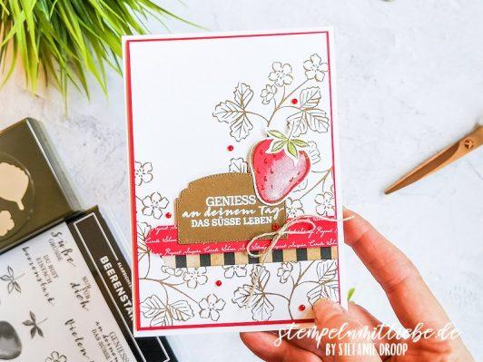 Geburtstagskarte mit Beerenstark