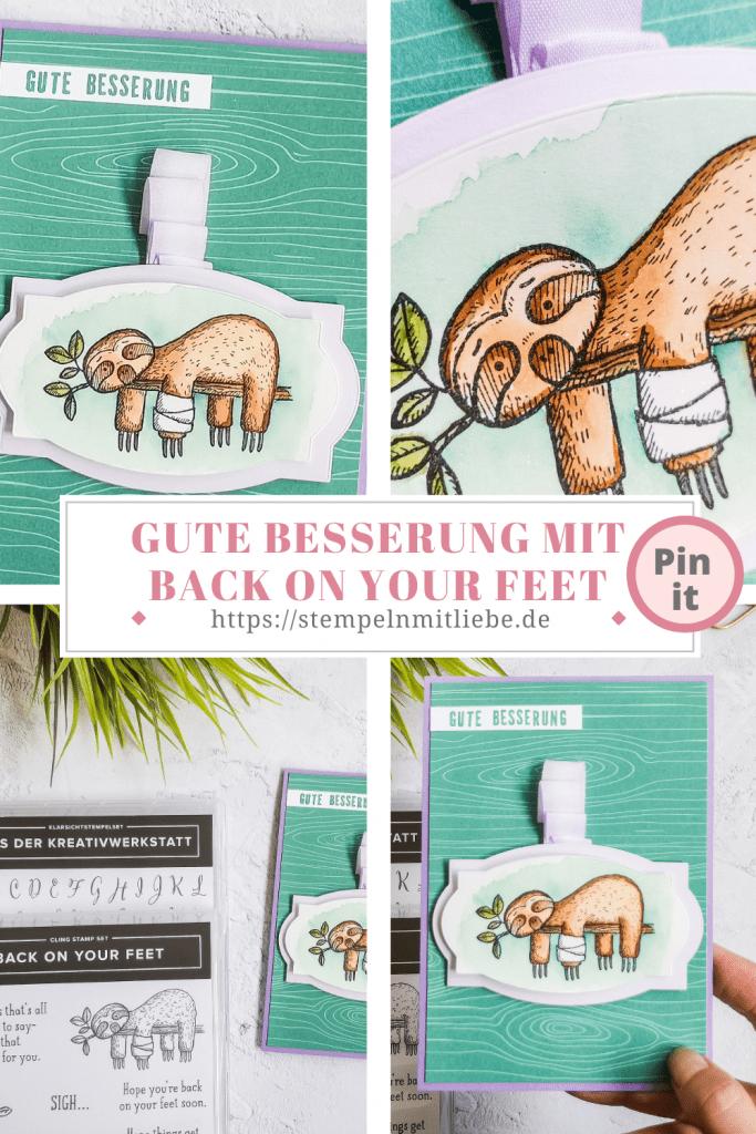 Gute Besserung mit Back on your Feet - Stempeln mit Liebe - Stampin' Up! - Aus der Kreativwerkstatt - Aventurin - Heideblüte - Flieder
