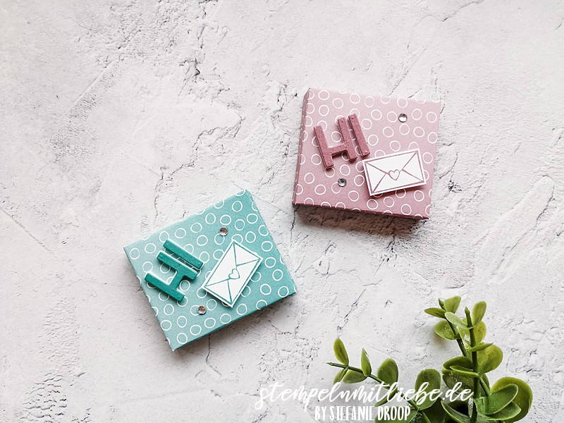 Mini Schokoladenverpackung Ombré - Stampin' Up! - Stempeln mit Liebe - Designerpapier Ombré - Oh so Ombré - Rittersport Mini Verpackung - Stempelset Kangaroo & Company
