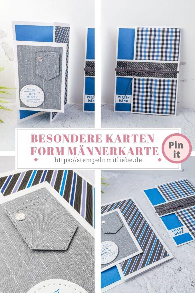 Besondere Kartenform - Stempeln mit Liebe - Stampin' Up! - Designerpapier Wie Massgeschneidert - Produktpaket der Beste