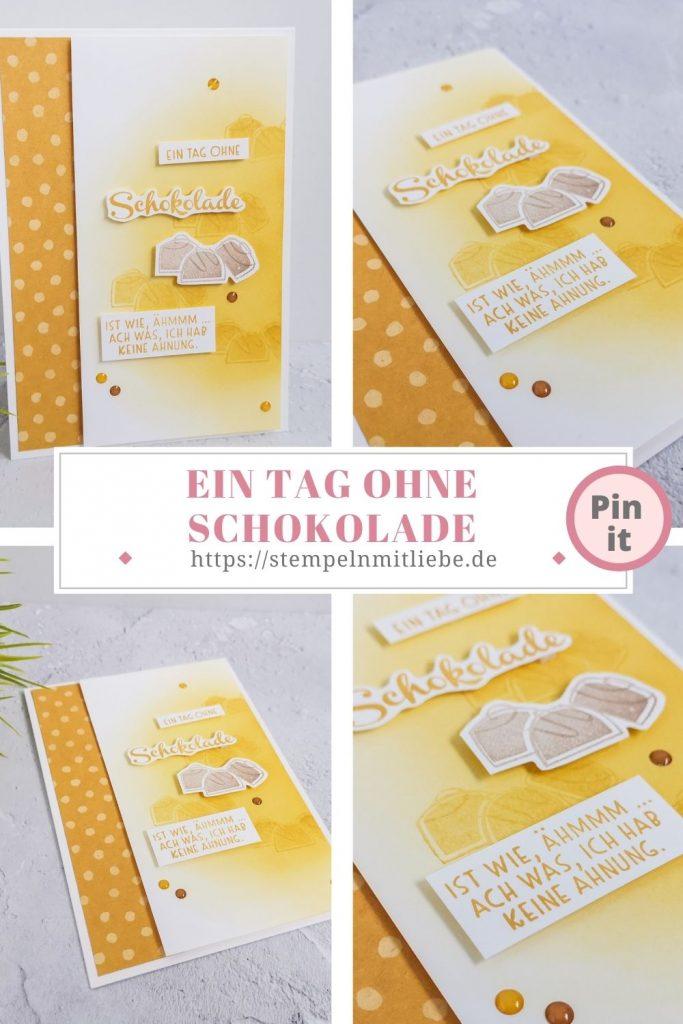 Ein Tag Ohne Schokolade - Stempeln mit Liebe - Stampin' Up! - Stempelset Nichts gehts über - Hummelgelb - Designerpapier Wiesenblumen