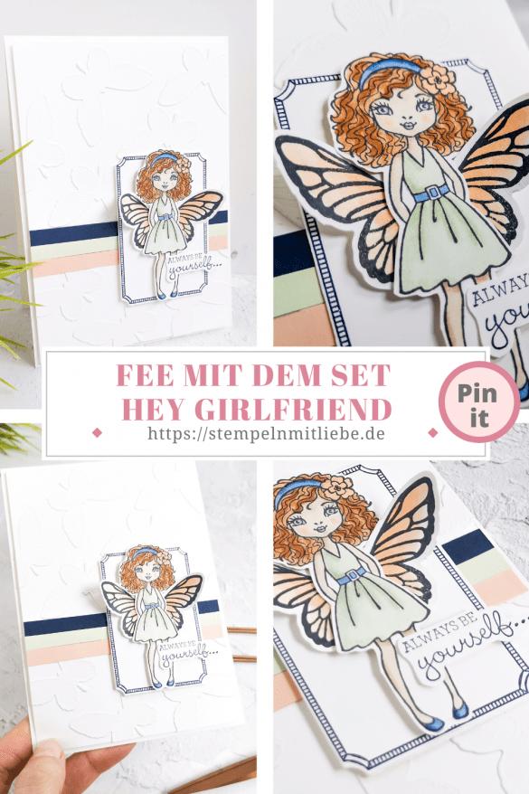 Fee mit dem Set Hey Girlfriend - Stampin' Up! - Stempeln mit Liebe - Floating & Fluttering - Grußkarte