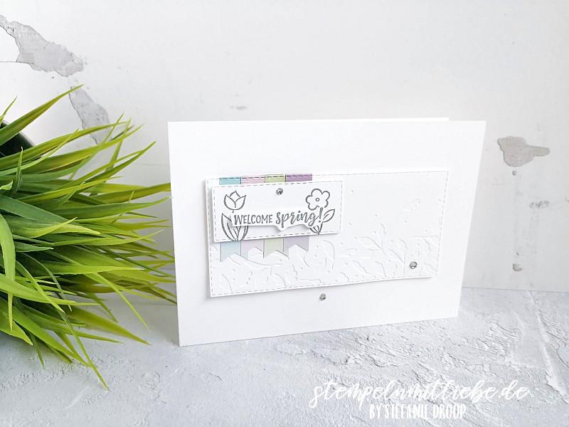 Hallo Frühling mit Springtime Joy - Stampin' Up! - Stempeln mit Liebe - Ombré - Frühlingskarte - Grußkarte