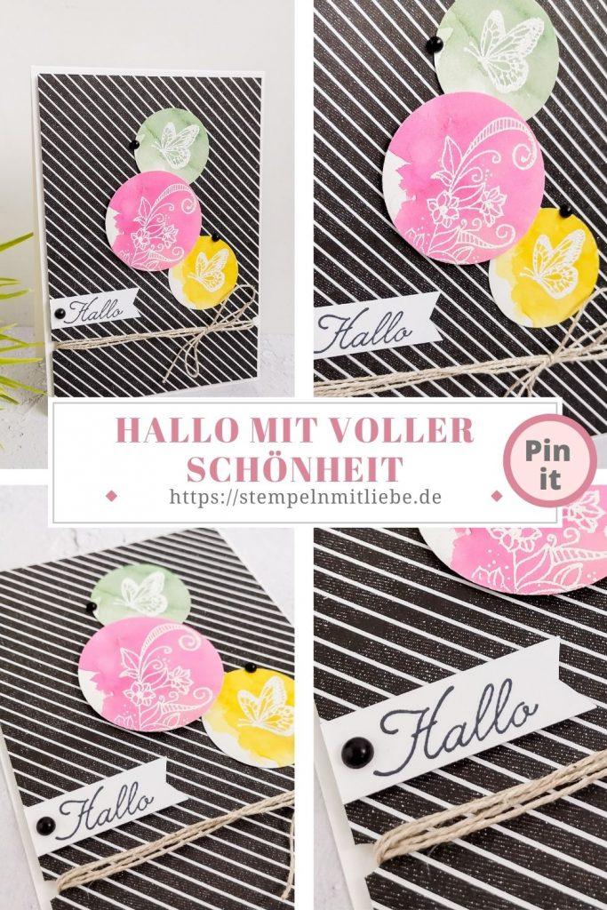 Stempeln mit Liebe - Stampin' Up! - Hallo mit voller Schönheit - Stempelset Voller Schönheit - Grußkarte