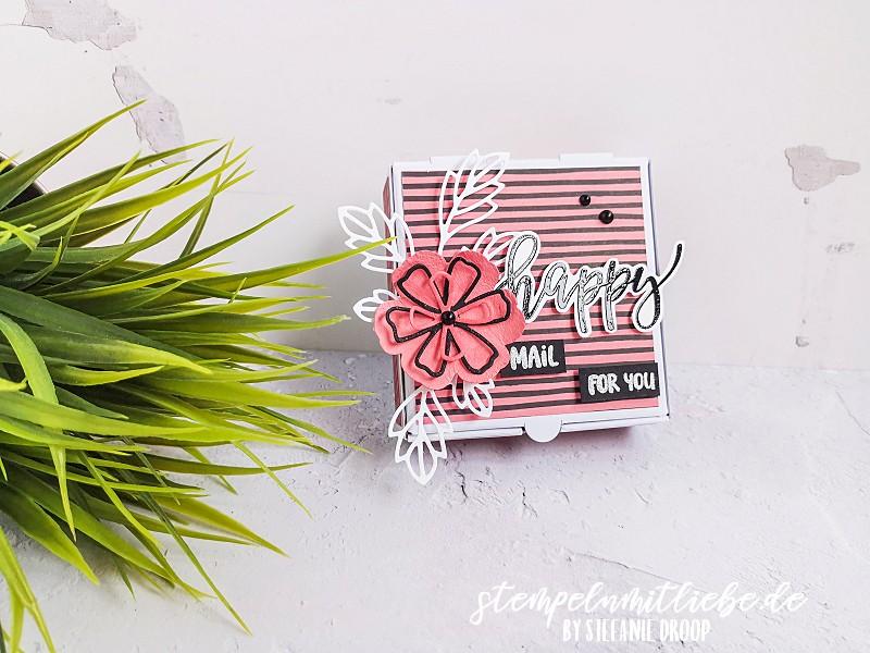 Happy Mail for You Schachtel - Stampin' Up! - Stempeln mit Liebe - Mini-Pizzaschachtel - Stempelset Pretty Perennials