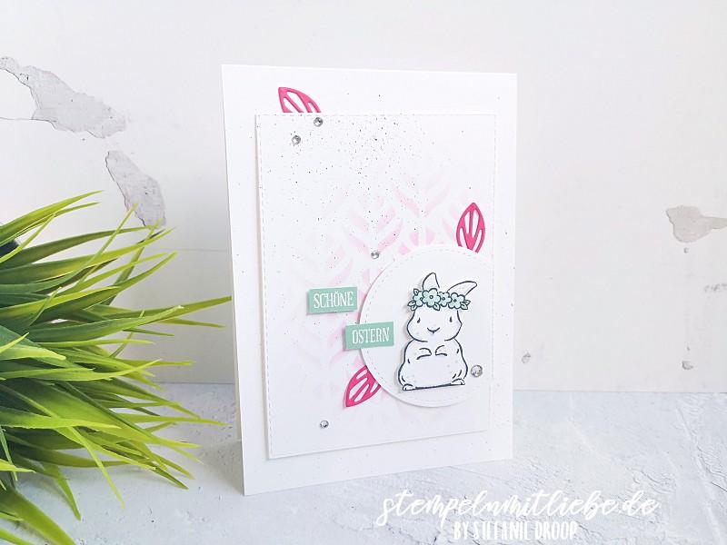 Schöne Ostern mit Springtime Joy - Stempeln mit Liebe - Stampin' Up! - Osterkarte - Minzmakrone - Wassermelone