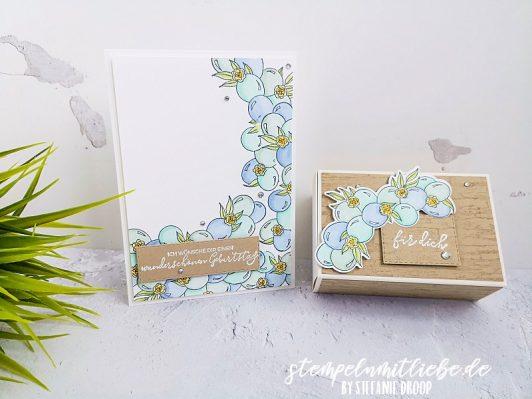 Stilvoller Geburtstag Karte und Verpackung