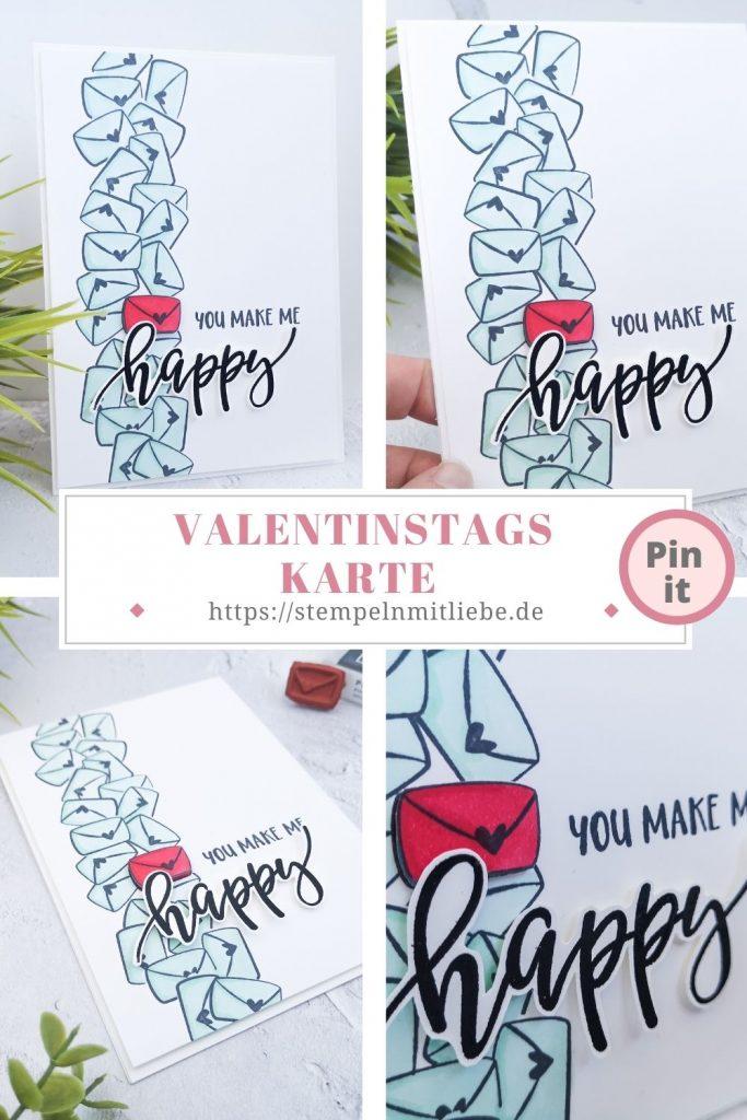Valentinstagskarte - Stempeln mit Liebe - Stampin' Up! - Stempelset Schneckenpost - Stempelset Pretty Perennials - Valentine's Day