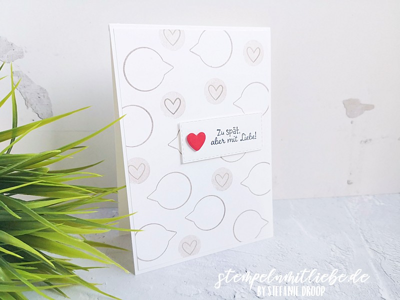 Zu spät aber mit Liebe - Stampin' Up! - Stempeln mit Liebe - Produktpaket Schneckenpost - Granit - Snailed It