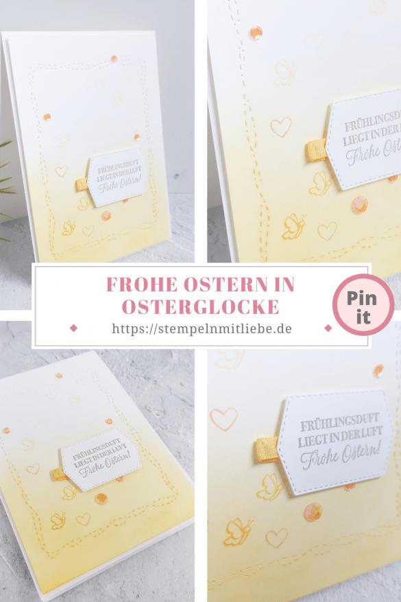 Frohe Ostern in Osterglocke - Stempelset Kleiner Wunscherfüller - Stempelset Kangaoroo & Company - Stampin' Up! - Stempeln mit Liebe
