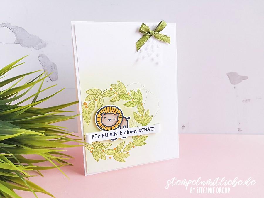 Für euren kleinen Schatz - Babykarte - Stampin' Up! - Stempeln mit Liebe - Stempelset Verspieltes zur Geburt - Stempelset Für immer im Herzen