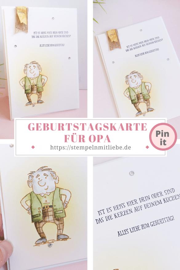 Geburtstagskarte für Opa - Stempeln mit Liebe - Stampin' Up! - Stempelset Ohne Altersgrenze - Aquarelllook