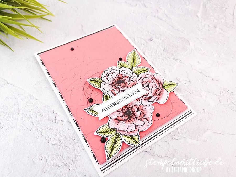 Video: Geburtstagskarte mit DSP Wahre Liebe - Stampin' Up! - Stempeln mit Liebe - Flamingorot