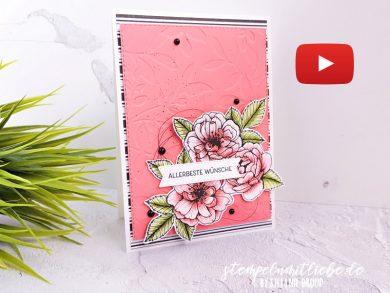 Video: Geburtstagskarte mit DSP Wahre Liebe