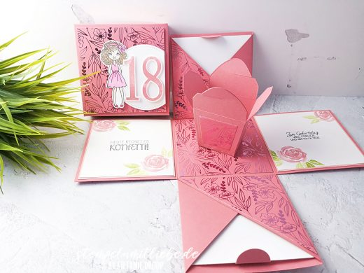 Girlige Explosionsbox zum 18. Geburtstag
