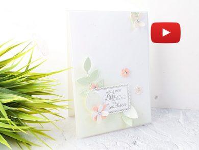 Video: Hochzeitskarte mit Perforierte Blumen