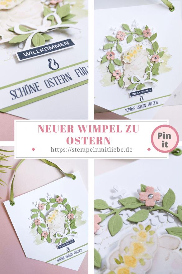 Neuer Wimpel zu Ostern - Stempeln mit Liebe - Stampin' Up - Stempelset Springtime Joy