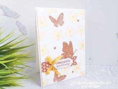 Schmetterlingsgrüße in Zimtbraun