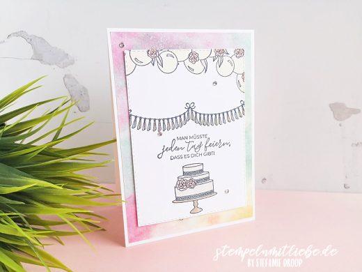 Stilvolle Geburtstagskarte