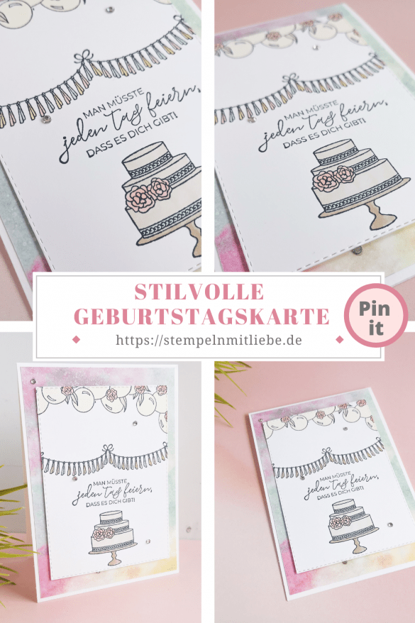 Stilvolle Geburtstagskarte - Stempeln mit Liebe - Stampin' Up! - Stampin' Blends - Stempelset Stilvoller Geburtstag