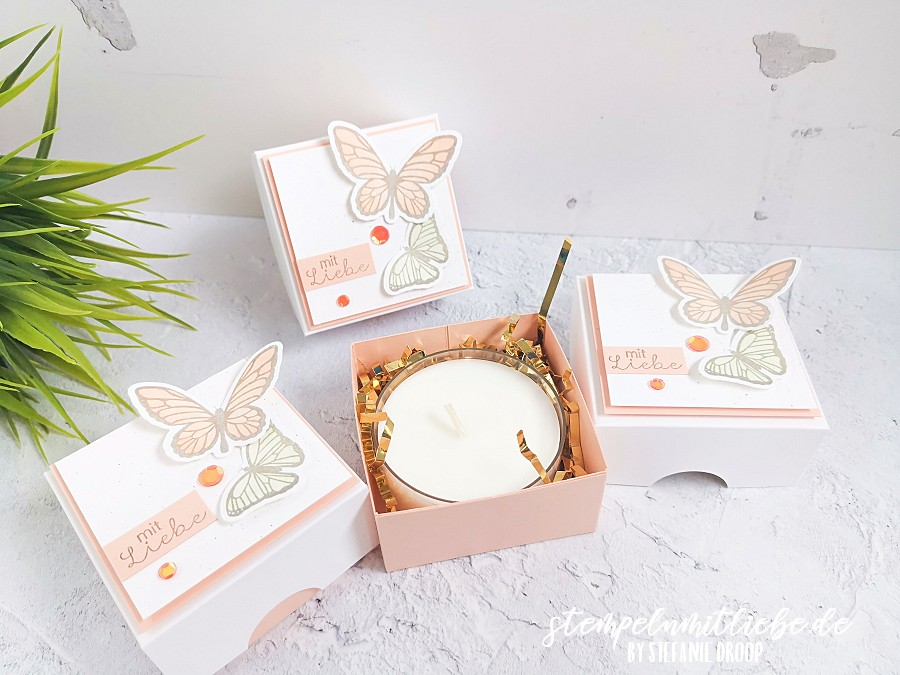 Anleitung: Teelichter mit Schmetterlingen