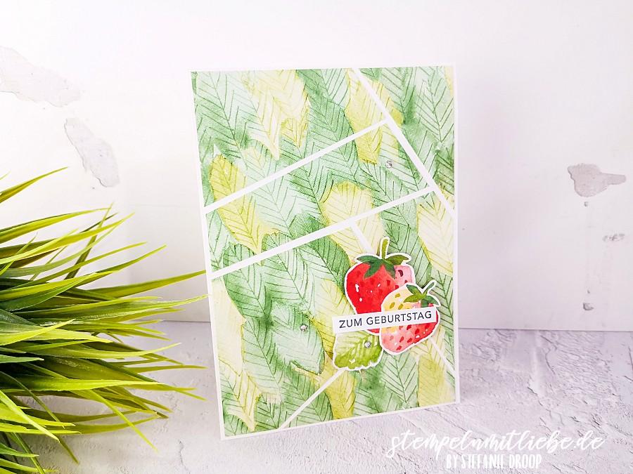 Zum Geburtstag mit Fruchtige Grüße - Designerpapier Fruchtige Grüße - Stempeln mit Liebe - Stampin' Up!