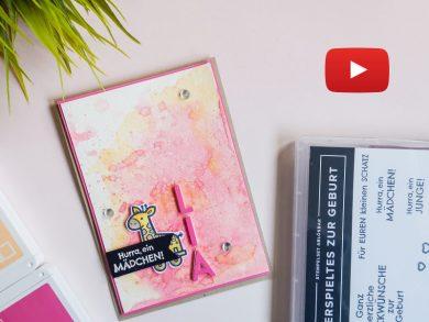 Video: Babykarte in Papaya und Bonbonrosa