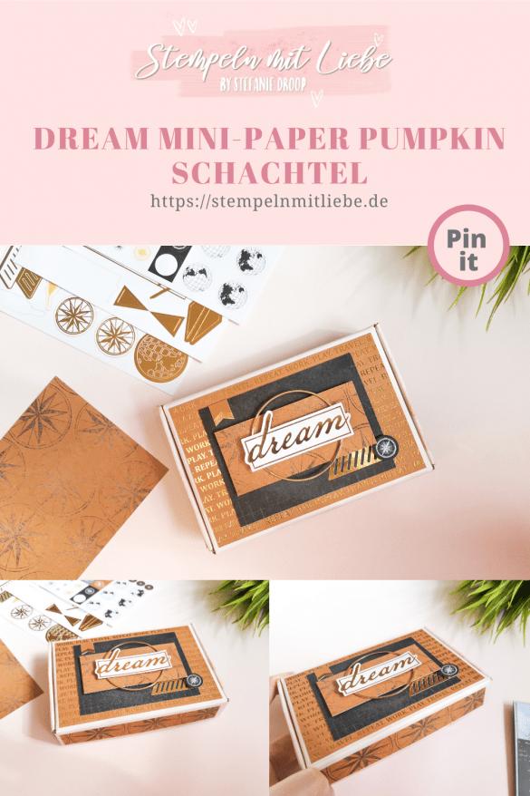Mini Paper Pumpkin Schachtel - Karten-Sortiment Erinnerungen & Mehr Welt der Abenteuer - Stampin' Up! - Stempeln mit Liebe - Zimtbraun