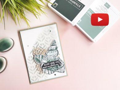 Video: Geburtstagskarte in Seladon und Lodengrün