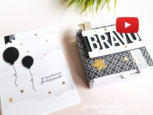 Video: Karte & Verpackung Schwarzweiß