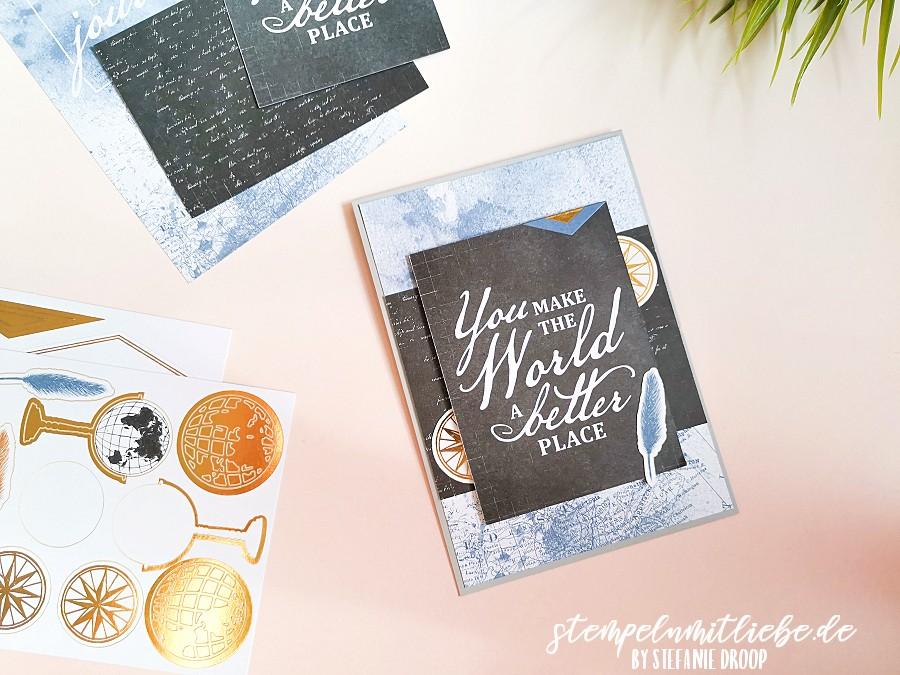 Karten-Sortiment Erinnerungen & Mehr Welt der Abenteuer - Stempeln mit Liebe - Stampin' Up!