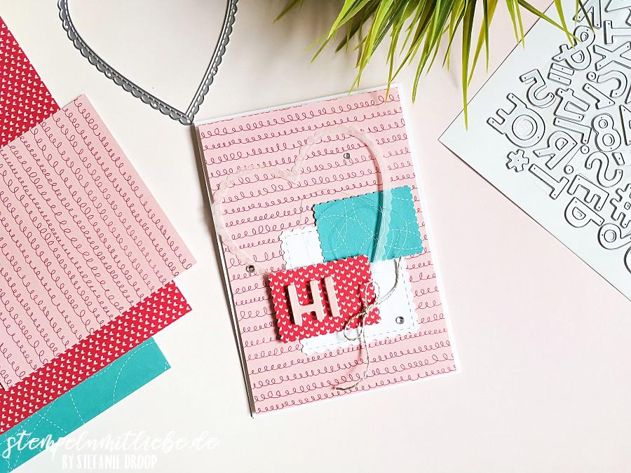 Kleiner Gruß mit DSP Schneckenpost - Stempeln mit Liebe - Stampin' Up! - Stanzformen Buchstabenmix